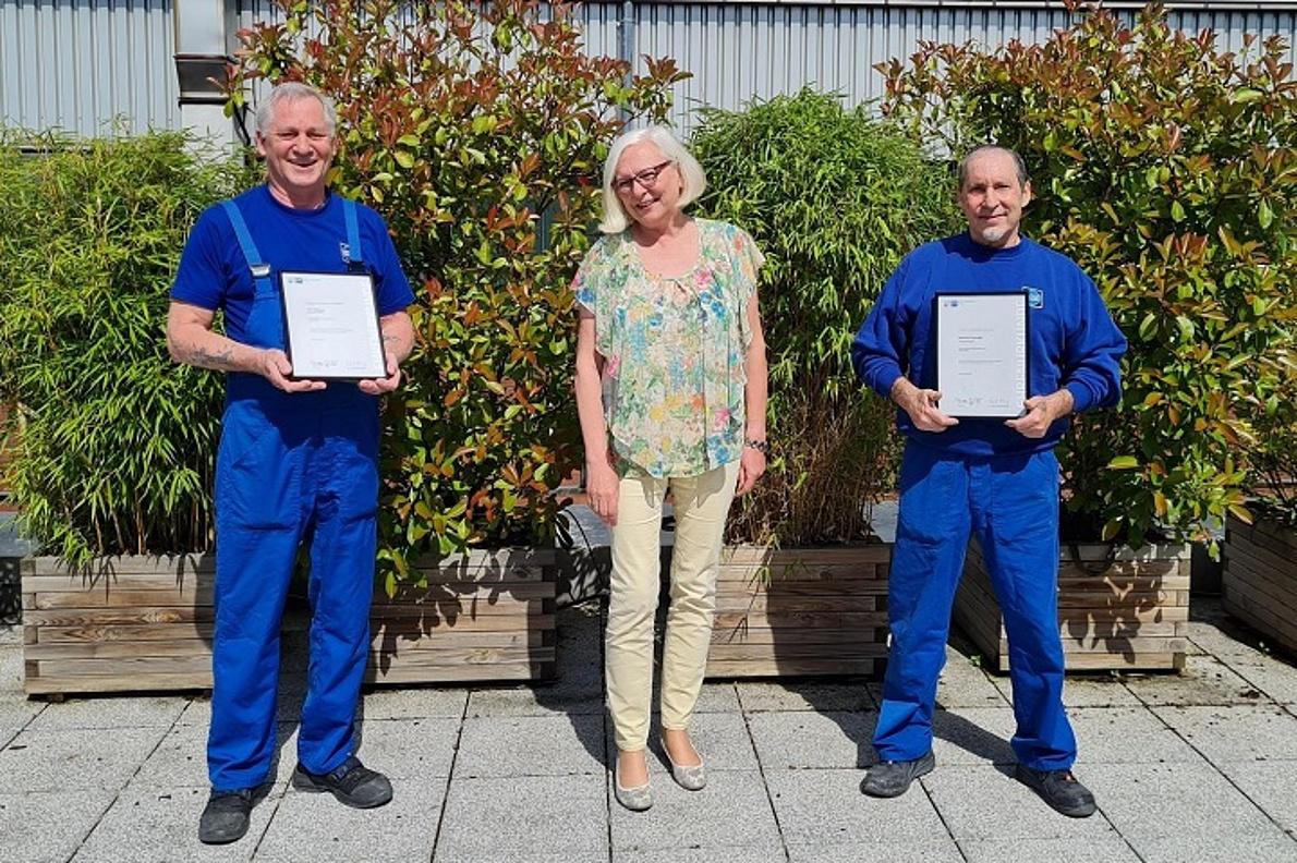 Félicitations à Lutz Koßmann (production), Gabriele Stallinger (gestion des matériaux) et Domenico Pusceddu (production)