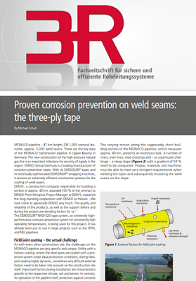 3R – Proven corrosion prevention on weld seams: the three-ply tape