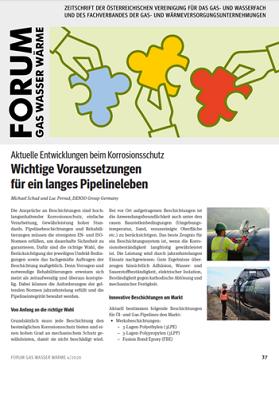 Forum Gas Wasser Wärme - Wichtige Voraussetzungen für ein langes Pipelineleben